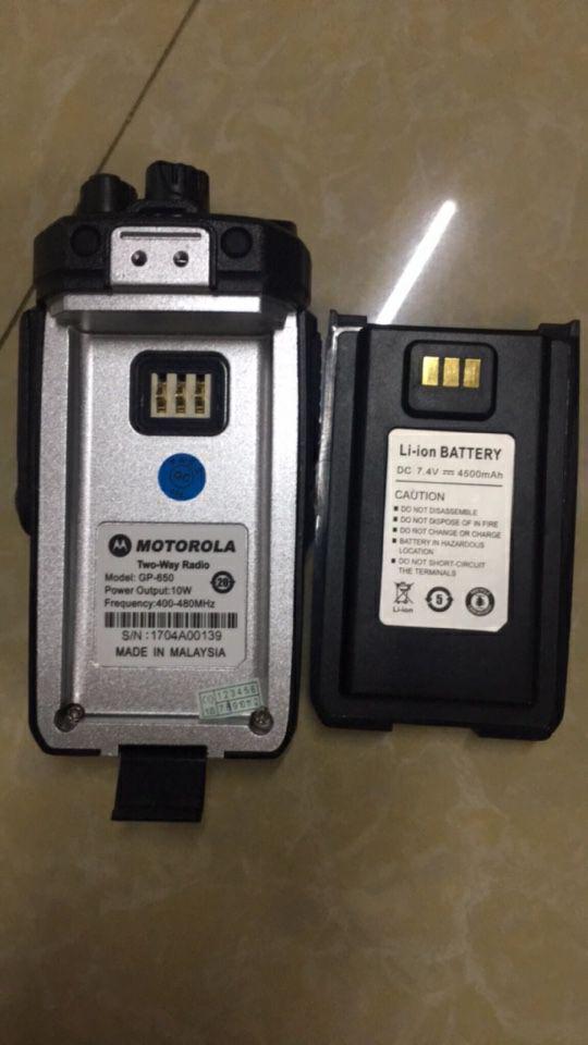 Pin của bộ đàm Motorola có thời gian sử dụng lâu